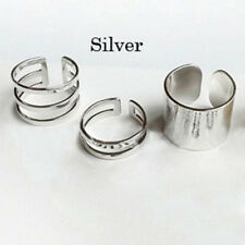 Pretty 3pcs Silver Gold Over The Midi Tip Finger Above The Knuckle Open Rings