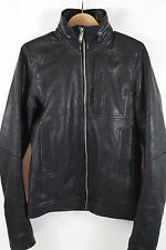 Rick Owens 'Perriand' Hidden Hood Leather Jacket Size 40 MSRP $3,075