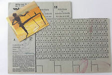 2ww german used  and named  ration coupon sheet  for  hamburg 1943