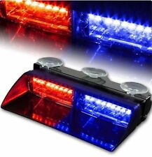 16 LED Red Blue Car Police Strobe Light Dash Emergency Flashing Warning Lamp