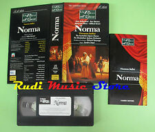 VHS Vincenzo Bellini NORMA Un palco all'opera FABBRI Stevens (CL2*) no cd dvd lp