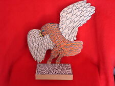 SUPERB-VERY RARE-OUTSIDER ARTIST HOWARD FINSTER-AMERICAN EAGLE-DATED 1995