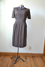 1950s Brown Dress 50s Retro TRUE VINTAGE Wool Womens Costume 1940s 40s