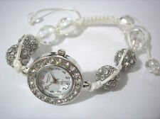 Ashley Princess Bling Bling Shamballa Bracelet Women's Watch White