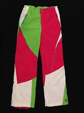Spyder Thrill Women's Ski Pant Green White Hot Pink Neon 4 M 31 Size 20 Womens