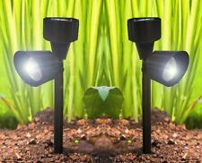 Set of 4 Solar Spotlights Post LED Garden Lights Patio Decking Driveway Outdoor