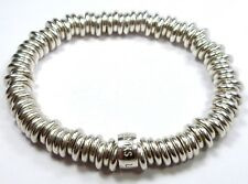 "150mm 6"" INCH GENUINE SILVER 925 LINKS OF LONDON RING SWEETIE CHARM BRACELET 55g"
