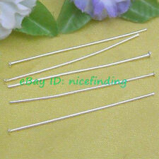 FGP0270 500pcs Silver Plated Head Pins Jewelry Finding 26mm
