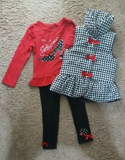 Toddler Girls Kids Headquarters Size 5 3 Piece Outfit