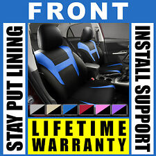 Blue & Black Front Car Seat Covers Set - OEM Bucket 2 Pc Pair Truck SUV Gc9823