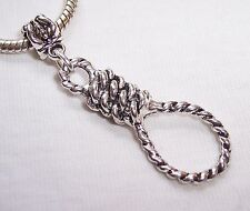 Oversize Noose Rope Hangman Halloween Dangle Bead for European Charm Bracelet