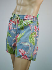 Ralph Lauren Men  Teal Hawaiian Floral Swim Short Trunks/ RL Logo Patch NWT-XXL