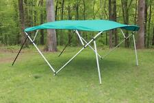 NEW VORTEX SQUARE TUBE FRAME 4 BOW PONTOON/DECK BOAT BIMINI TOP 12' TEAL 91-96""