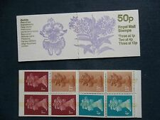 FB27 ORCHIDS DENDROBIUM NOBILE 50P MACHIN STAMP BOOKLET UMFB34