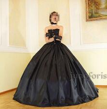 Ballrock Taftrock für Ballkleid schwarz Vampire gothic