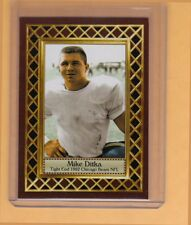 Mike Ditka 1962 Chicago Bears rookie season, Fan Club serial numbered /300