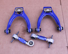 GEN 2 BLUE FRONT UPPER A-ARM+REAR CAMBER KIT HONDA CIVIC 96-00 EK EJ EK4 EK9 EJ9