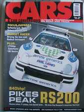 Cars & Car Conversions CCC May 2003 Ford RS200 Focus Impreza Radical Civic 206
