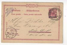 1893 Constantinople German Offices in Levant Postal Card to New York