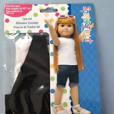 "Springfield Doll Clothes-White and Black Tank Tops - American Girl/18"" doll"