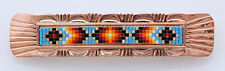 Native American Navajo Handmade Beaded Copper Hair Barrette
