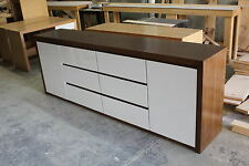 2 door 6 drawer Local make tassie oak buffet side board white high gloss front