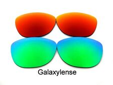 Galaxy Replacement Lenses For Oakley Frogskins Green&Red Color Polarized 2Pair
