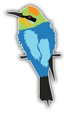 Rainbow Bee Eater Bird Car Bumper Sticker Decal 3'' x 6''