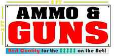 GUNS & AMMO Banner Sign Shop Gun Holdster Pistol Rifle NEW XL Extra Large Size