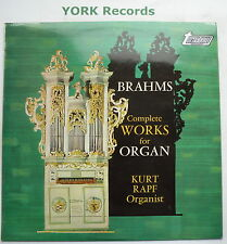 TV 34422S - BRAHMS - Complete Works For Organ KURT RAPF - Ex Con LP Record