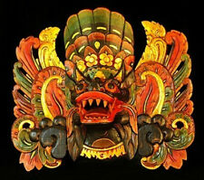 INDONESIAN WOODEN MASK- BARONG KET  BLACK