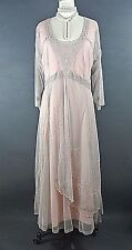 Downton Abbey Dress Nataya SALE Pink Gray Lace Victorian Formal Plus Size 3X NWT