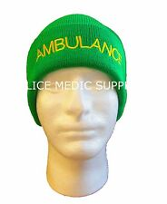 Ambulance Light Green Woolly Hat EMT Paramedic St Johns Medic First Responder