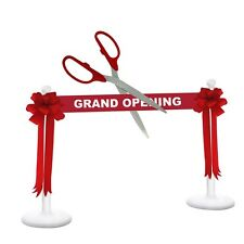 "36"" Red/Silver Ceremonial Ribbon Cutting Scissors Deluxe Grand Opening Kit"