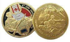Infantry Division D-Day Omaha Gold Utah Juno Sword Beach Gold Plated Coin