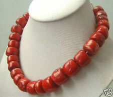 """20"""" Tibet REAL red coral BIG necklace"""