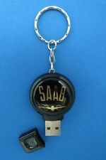 SAAB LOGO 2GB THUMB DRIVE KEYRING KEY RING CHAIN #130