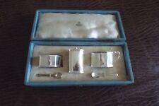 Sterling Silver 3 Piece Cruet / Condiment Set for Asprey of London (retailer)