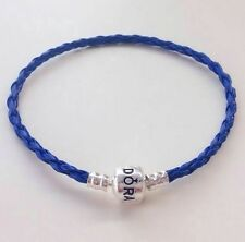 Kentucky Blue Leather Bracelets Chain Bangle For European Charms/Beads PL12