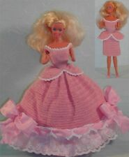 CROCHET FASHION DOLL PATTERN-ICS ORIGINAL DESIGNS-#213 CHANGEABLE IN PINK