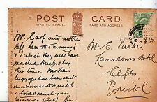 Genealogy Postcard - Family History - Parker - Clifton - Bristol  A1373