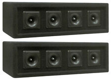 NEW (2) 4 Piezo DJ Tweeter Array Horn Cabinets.Pro Audio Loaded High Speakers.PA