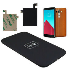 10W Qi Wireless Charger Charging Pad +Qi Receiver Sticker With NFC for LG G4 HOT