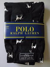 Polo Ralph Lauren Mens Underwear Classic Boxers Black Dog Small Cotton NWT