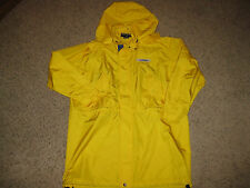 Polo Sport Ralph Lauren USA Hooded Slicker Jacket L Yellow Spellout Outdoors Lg