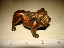 Antique Bronze Blecher BULLDOG Souvenir Paperweight HARRISBURG PA NR