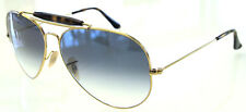 RAY BAN 3029 62 OUTDOORSMAN II GOLD HAVANA LENS BLUE GRADIENT REMIX SFUMATO