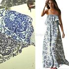 Sexy Women Summer Boho Long Maxi Evening Party Dress Floral Beach Dress S/M/L/XL