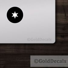Chicago Star - Mac Apple Logo Cover Laptop Vinyl Decal Sticker Macbook Unique