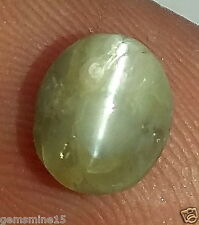 2.40 CT CHRYSOBERYL Cats Eye 100% Natural Certified Nonheated Untreated Gemstone
